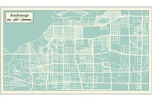 Anchorage Alaska USA City Map