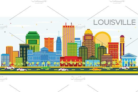 Louisville Kentucky USA City Skyline