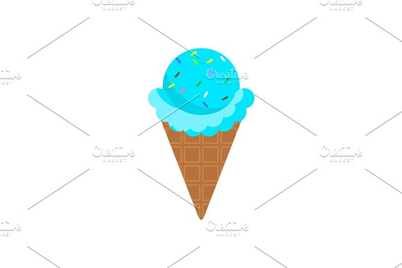 Icecream Blue Cone