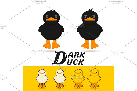 Couple Duck Vector Illustration