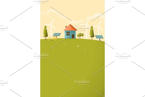 Eco Friendly House Vector