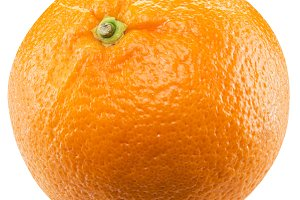 Orange fruit on the white
