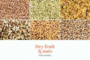 Dry fruit & nut patterns (bundle)