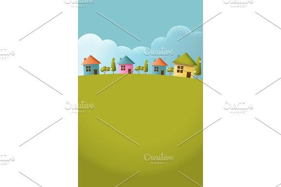 Village On The Hills Vector