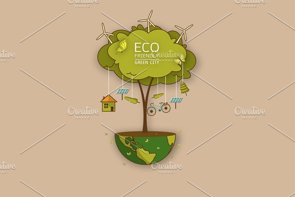 Vector Illustration Of Eco Earth
