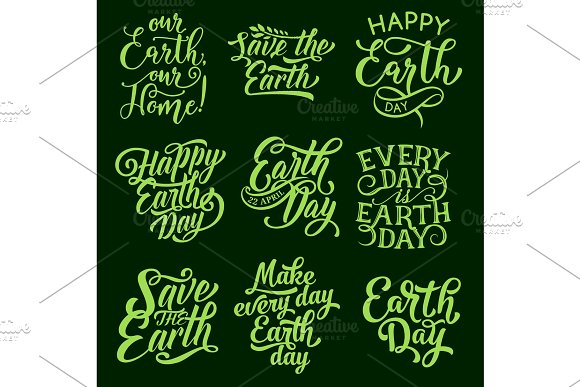 Earth Day Symbol For Ecology Holiday Design