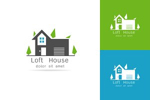 loft house logo vector