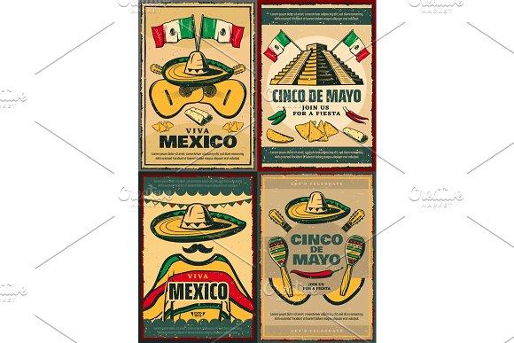 Cinco De Mayo Retro Poster Of Mexican Holiday