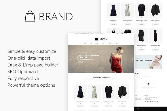 Brand Fashion WordPress Theme
