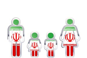 People icon with Iran flag