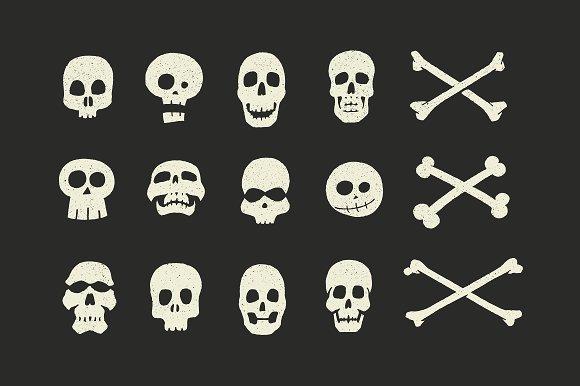 Vector Skulls Crossbones 15 Pack Illustrations Creative Market
