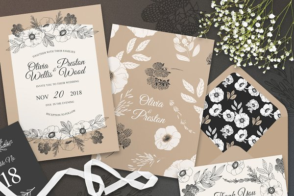 Invitation Templates: RoseMary - Summer Nicety Wedding Suite