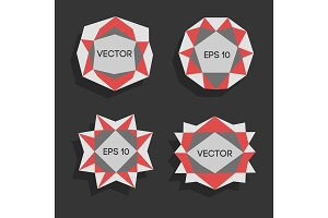 Abstract low poly modern labels. Vector low poly frame with space for text Template creative low poly element. Vector low poly illustration decorative low poly background. low poly frames for text.