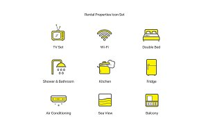 Rental Properties Icon Set