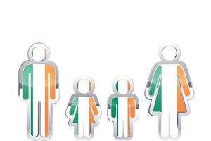 People icon with Ireland flag