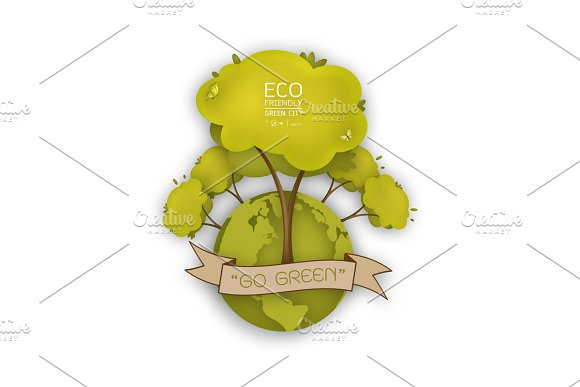 Ecology Concept With Green Eco Earth