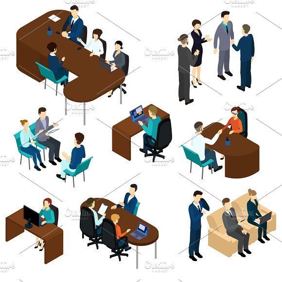 Isometric Recruitment Process Set