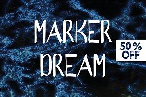 50% OFF - Marker Font