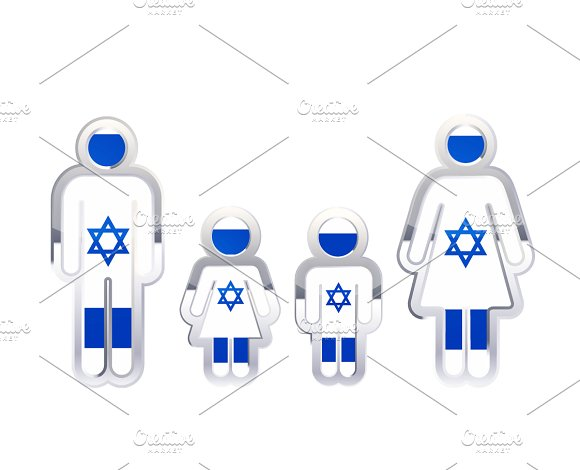 People Icon With Israel Flag