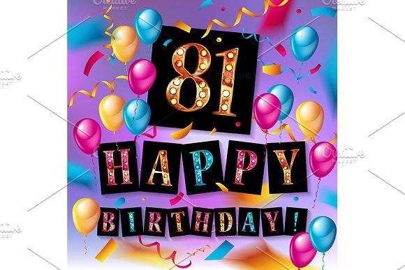81 Year Happy Birthday Card