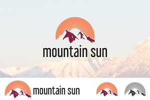 Peak Mountain Sunrise Logo