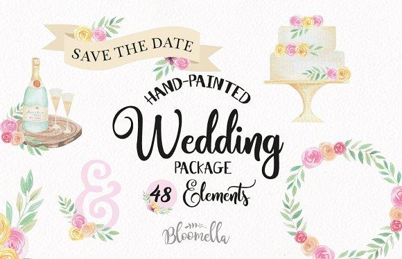 Wedding Watercolor Clipart Kit