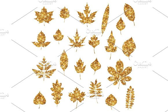 Gold Forest Leaves