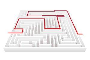 Isometric way pass maze