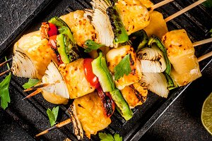Grilled Paneer Tikka cheese kebab
