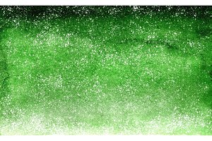 Watercolor green emerald gradient background design with dots like stars