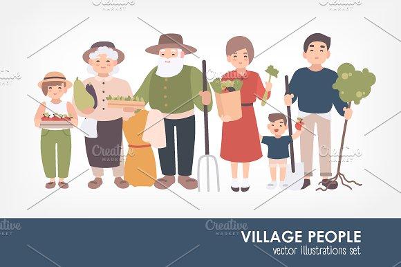 Set Of Village People