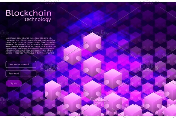 Cryptocurrency And Blockchain Isometric Illustration