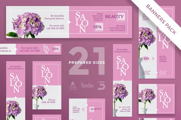 Banners Pack Beauty Salon Spa