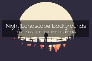 Night Landscape Backgrounds