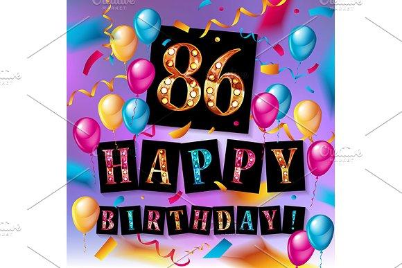 Happy Birthday 86 Years Anniversary