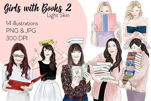 Girls with books 2 - Light Skin