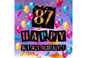 87th Birthday celebration
