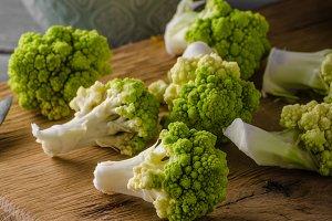 Green cauliflower bio vegetable