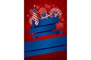 USA banner design