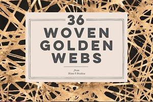 36 Woven Golden Webs