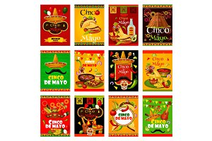 Cinco de Mayo greeting card for mexican festival