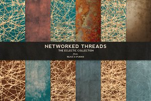 Networked Threads: Gold Backgrounds