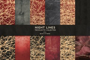 Night Lines: Golden Networked Webs