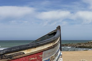 Boat on the beach. Morocco