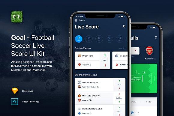 Goal Football Soccer Live Score UI