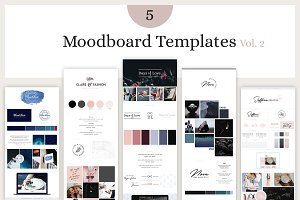 Mood Board Template Bundle - Vol. 2