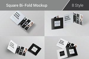 Bi-Fold Brochure Mockup 8 Style