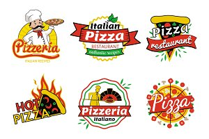 Pizzeria and Pizza Restaurant Vector Illustration