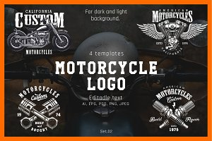 Motorcycle logos set