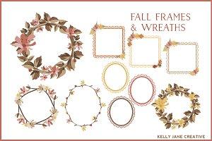 Fall Wreaths & Lace Frames